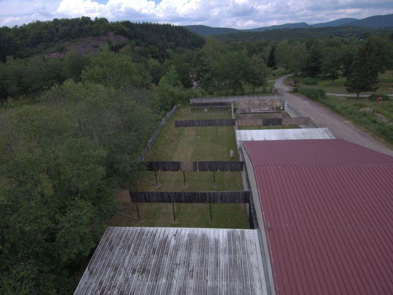 vue en drone du club